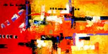 Abstract #6-Original Mixed on canvas by Master of Abstract Art FERRO