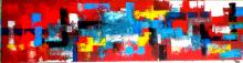 Abstract #7-Original Mixed on canvas by Master of Abstract Art FERRO