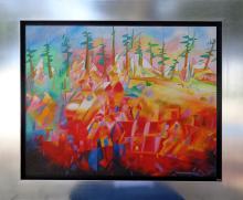 Bridge-Oil on Canvas Original Nu