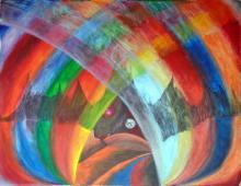 Abstract Zen-Mixed Media Original