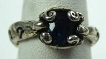 Baroque Hollywood Signature Collection-Organic Blue Sapphire Ring- Any Size
