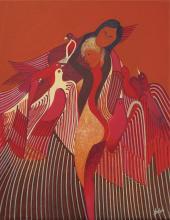 Avian Fantasy-Oil on Canvas Original Solano