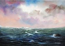 Oil on Canvas Seascape Original Jorge Espinoza