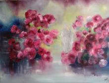 Oil on Canvas High End-Nicole Denaire Saudemont-Floral Art- 35 x 47