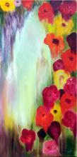 Oil on Canvas High End-Nicole Denaire Saudemont-Floral Art-24 x 47