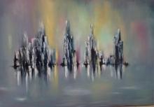 Oil on Canvas Original Nicole Denarie Saudemont- 31 x 43