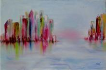 Towers Abstract-High End Original Saudemont