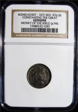 Rome: Constantine the Great. Money of the Bible. NGC Genuine.