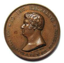 Sweden: Johann Jacob F. von BERZELIUS 1830 Bronze Medal.