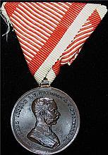 Austria: 1914 Franz Joseph I Der Tapferkeit Bronze Bravery Medal.