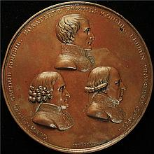 France: The Three Consuls Bronze Medal 1802.