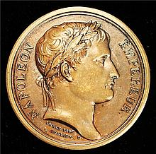 France: 1805 Napoleon Bonaparte Coronation as King of Italy Commemorative Bronze Medal.