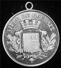 France: 1890 Ville De Roubaix National Festival of Jousting On The Water Silver Medal.