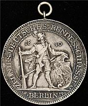 Germany: 1890 Berlin, 10th German Shooting Silver Medal. AU condition.