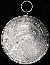 Germany: Medal For The Formation of The Guenther-Foundation Silver Medal.