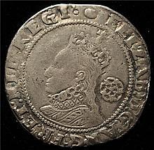 Great Britain: Elizabeth I Sixpence 1592, VF.