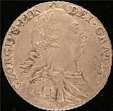 Great Britain: George III Shilling 1787, KM607.1. AU.