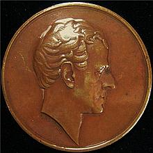 Great Britain: 1833 George Granville Duke Of Sutherland Bronze Medal.