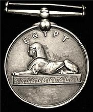 Great Britain: Egypt Campaign Silver Medal. C1880s. XF.