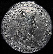 Italy: Renessance Medal - Ravenna Cardinal Benedetto Accolti the Younger 16th Century Led Trial Strike.