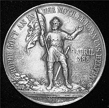 Switzerland: 1888 Fifth Saecularfeier The Battle of Näfels Silver Medal.