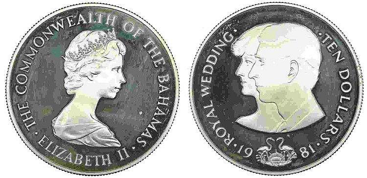 Bahamas - 10 Dollars 1981