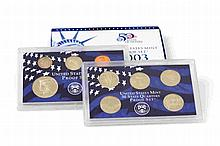 U.S.A. - 10 coins, Proof Set, 1/4 Dollar Set 2003 S