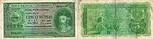 Paper Money - Portuguese India 5 Rupias 1945