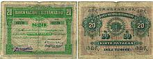 Paper Money -Timor 20 Patacas 1910