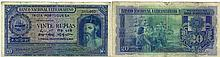 Paper Money - Portuguese India 20 Rupias 1945