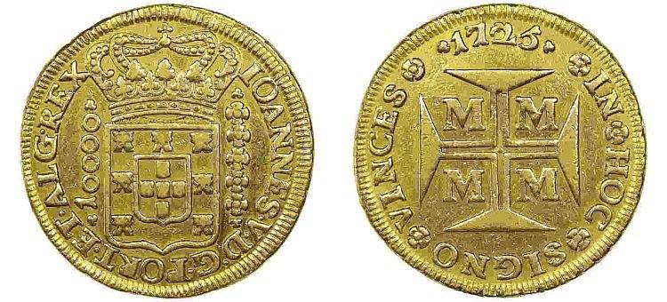 Brazil - D. João V - 1/2 Dobrão 1725 M