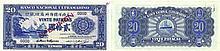 Paper Money - Timor 20 Patacas 1945 SPECIMEN