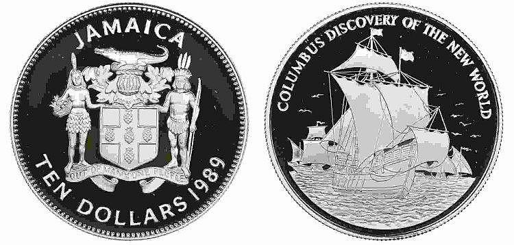 Jamaica - 10 Dollars 1989