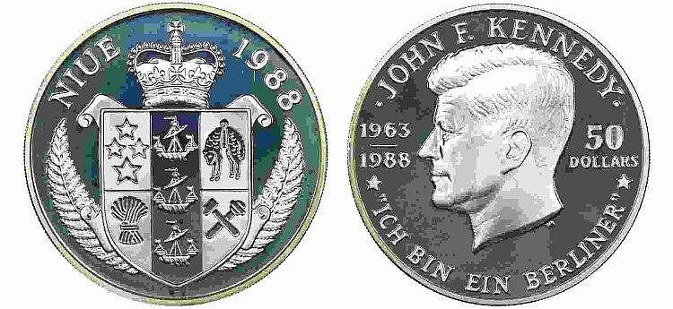 Niue - 50 Dollars 1988