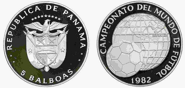 Panama - 5 Balboas 1982