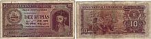 Paper Money - Portuguese India 10 Rupias 1945