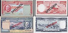 Paper Money - Angola 2 bank notes 500$00, 1000$00 1970 SPECIMENS