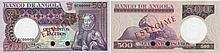 Paper Money - Angola 500$00 1973 SPECIMEN