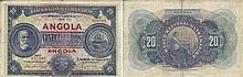 Paper Money - Angola 20$00 1921