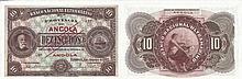 Paper Money - Angola 10$00 1921 SPECIMEN