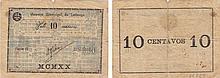 Emergency Paper  - Angola (Lubango) 10 Centavos 1920