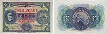 Paper Money - Cape Verde 20$00 1921 SPECIMEN