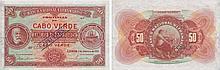 Paper Money - Cape Verde 50$00 1921 SPECIMEN