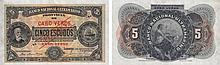 Paper Money - Cape Verde 5$00 1921 SPECIMEN