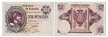 Paper Money - Spain 1000 Pesetas 1940