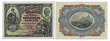 Paper Money - Spain 500 Pesetas 1907