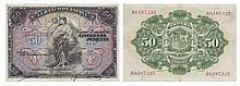 Paper Money - Spain 50 Pesetas 1906