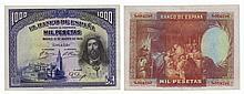 Paper Money - Spain 1000 Pesetas 1928