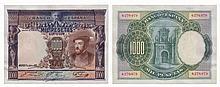 Paper Money - Spain 1000 Pesetas 1925