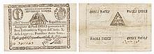 Paper Money - Italian States 10 Paoli 1798